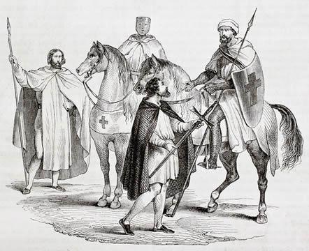 Os cavaleiros foram um dos símbolos do movimento cruzadista