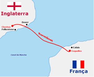 Localização do Eurotúnel