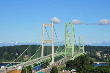 Nova ponte em Tacoma Narrows, Washington – EUA