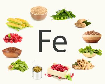 O ferro é encontrado em diferentes tipos de alimento