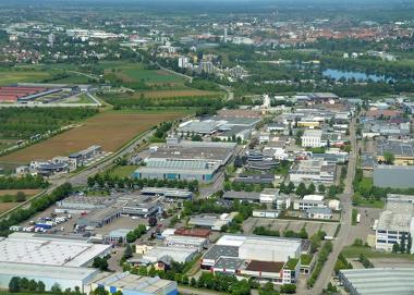 Área industrial na cidade de Offenburg, Alemanha