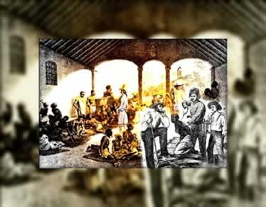 No Brasil colonial existiram diversos mercados de escravos que mantinham o rentável tráfico negreiro