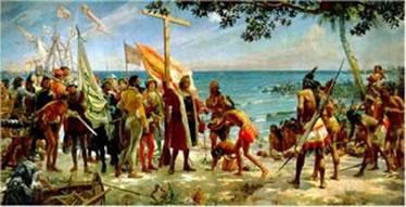 Pintura de José Gamelo Alda (1866 -1945) feita em 1892 para comemorar o IV centenário do descobrimento da América
