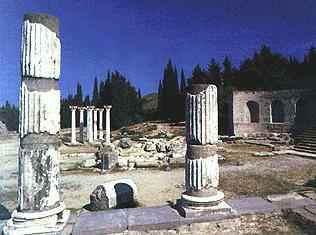 Ruínas de um templo construído na Antiguidade.
