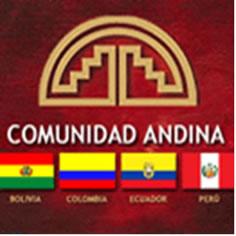 Símbolo e Países membros da Comunidade Andina