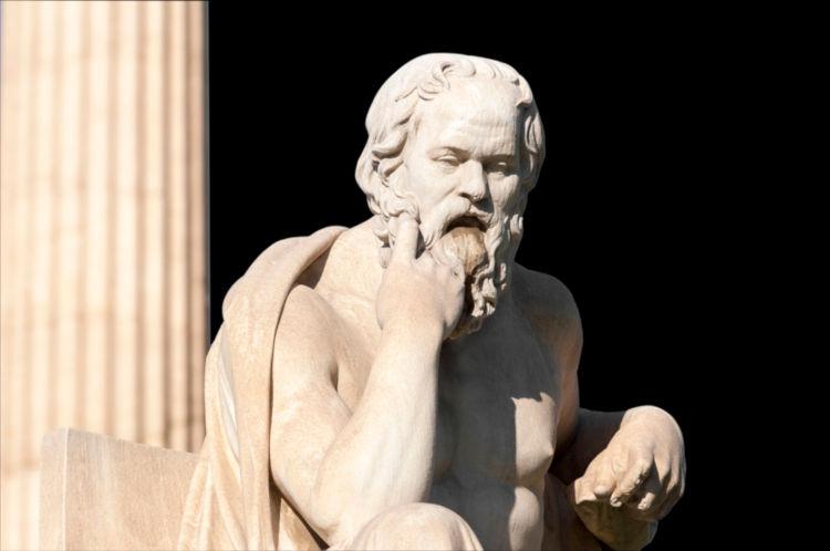 Sócrates introduziu na Filosofia Antiga questões relativas ao ser humano e ao seu convívio social.
